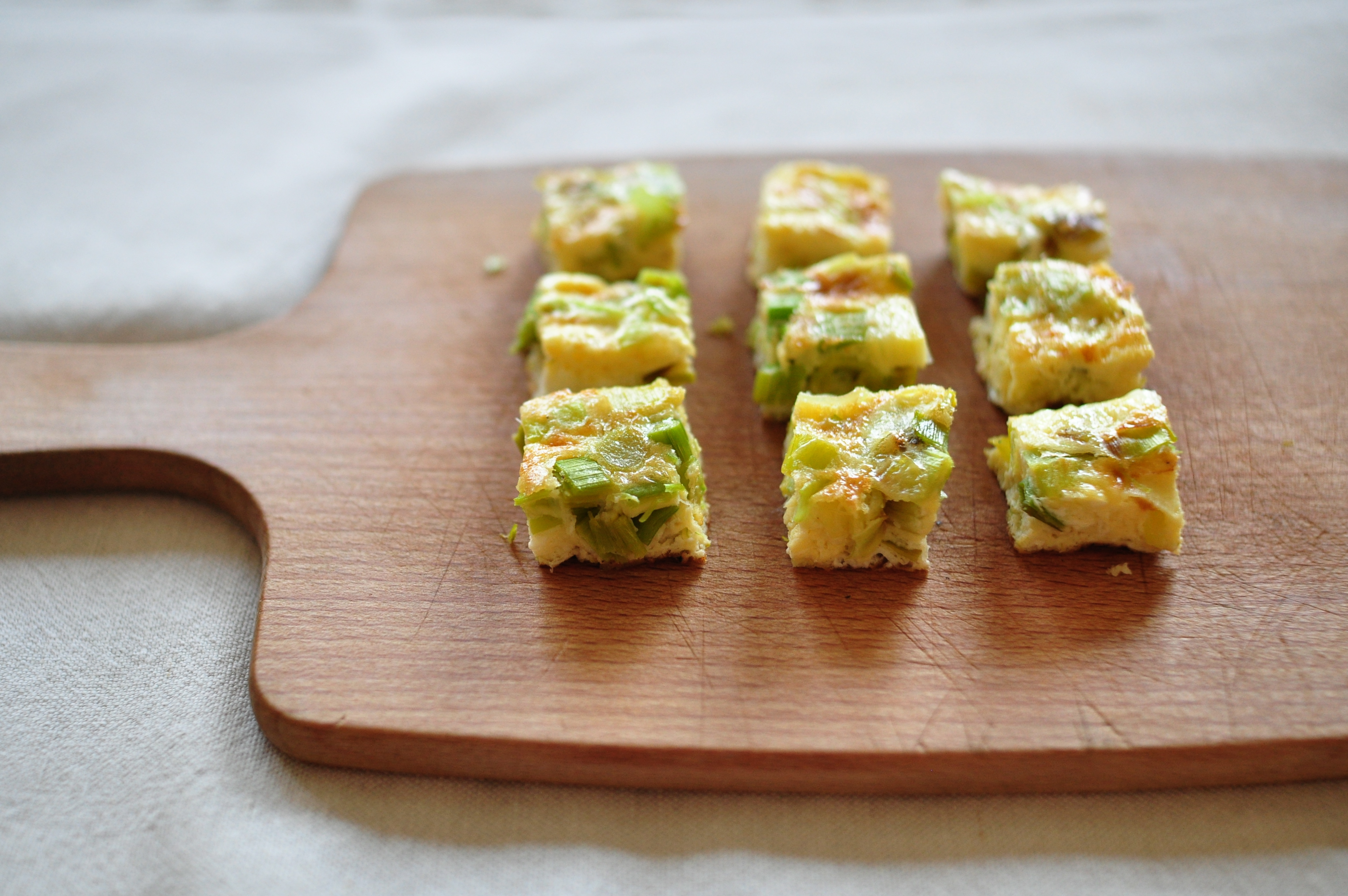 Finger food leek and manchego frittata nettle and quince louise forumfinder Choice Image