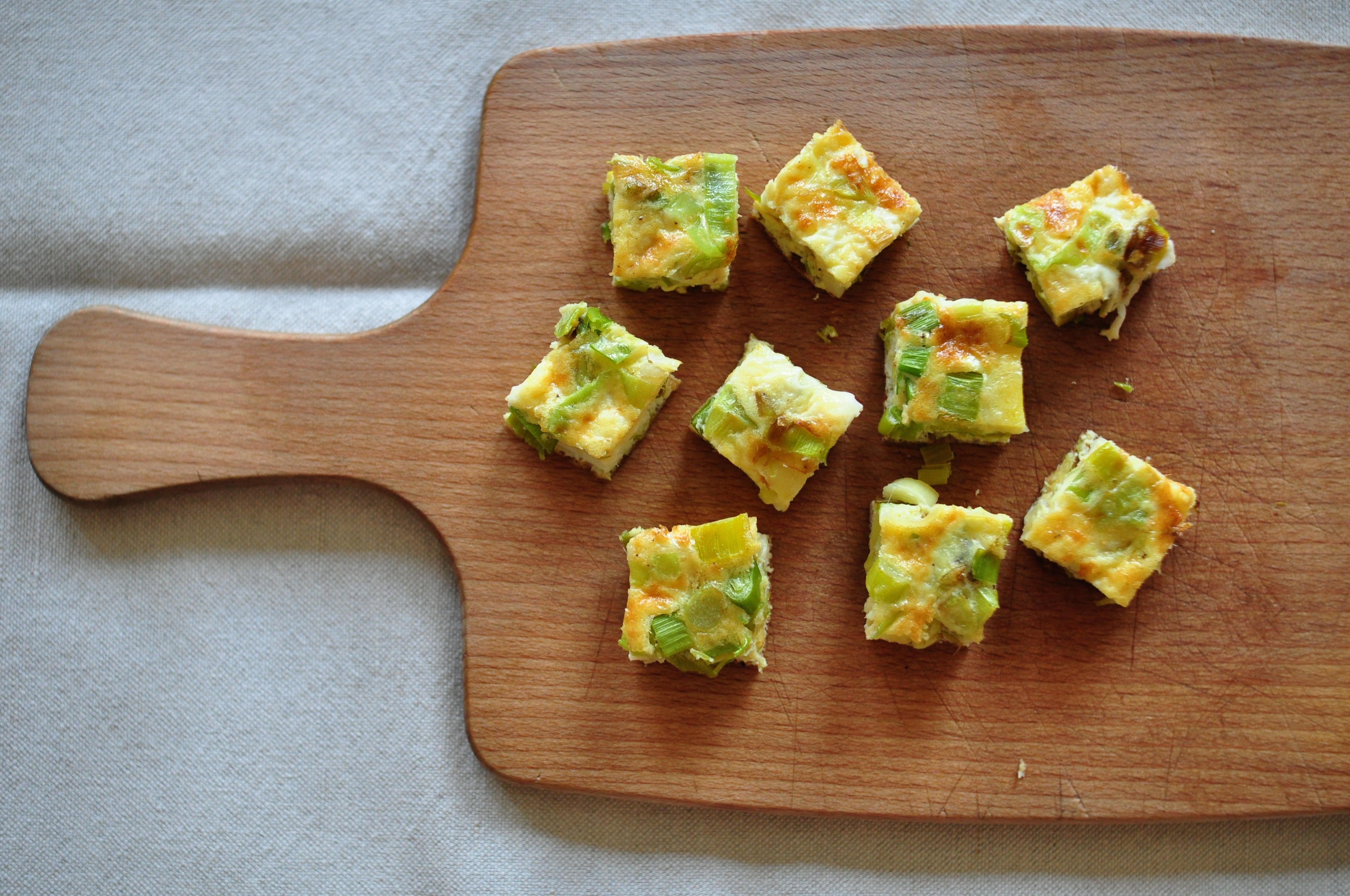 Finger food leek and manchego frittata nettle and quince the possibilities are endless and the result not only very tasty but a full meal in one dish that the children always like forumfinder Images