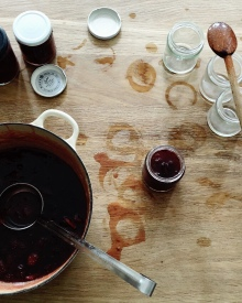 Strawberry and gooseberry jam