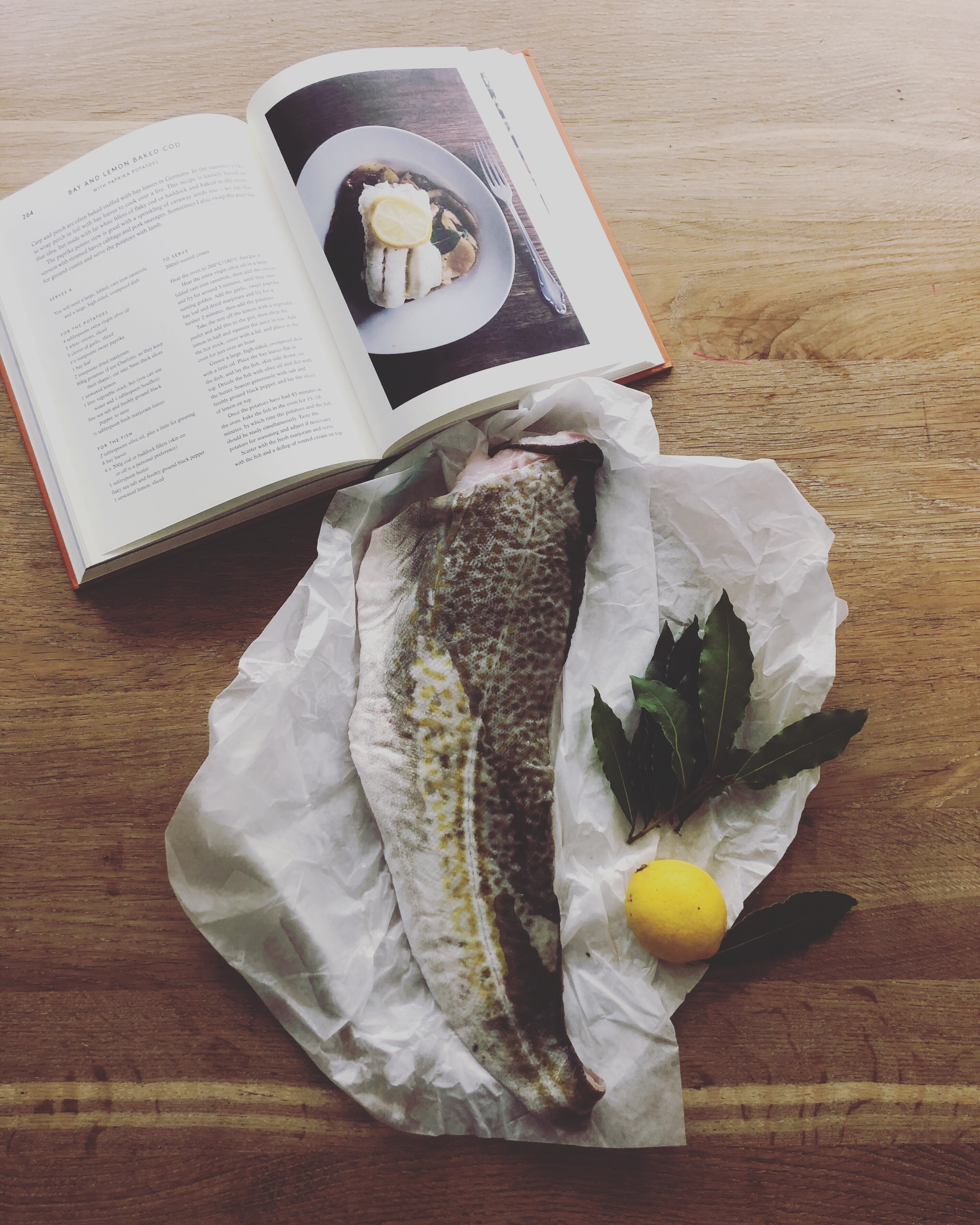 Cooking from cookbooks | Anja Dunk's Bay and lemon baked